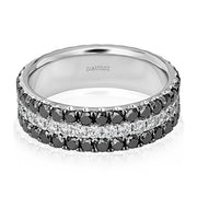 14K White Gold and Diamond Band