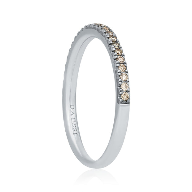 18K White Gold Natural Fancy Brown Diamond Band