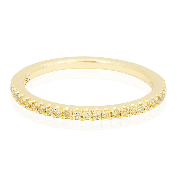 18K Yellow Gold Fancy Yellow Diamond Band