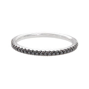 Henri Daussi White Gold and Black Diamond Band