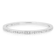 Henri Daussi 18K White Gold Channel Set Diamond Band