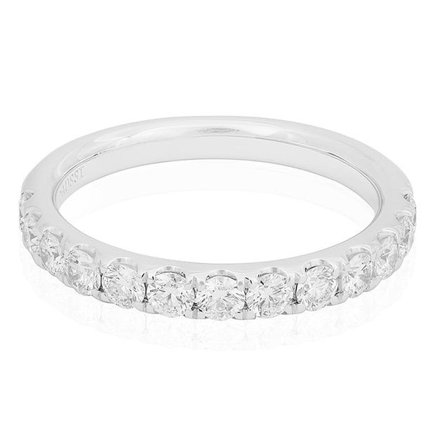 Henri Daussi White Gold Diamond Band