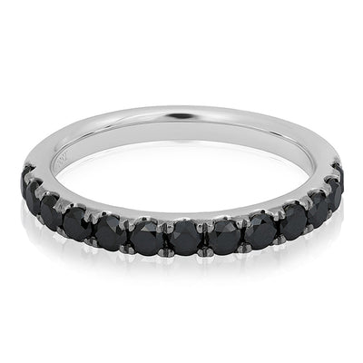 White Gold Black Diamond Band