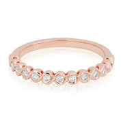 18K Rose Gold Swirled Diamond Band