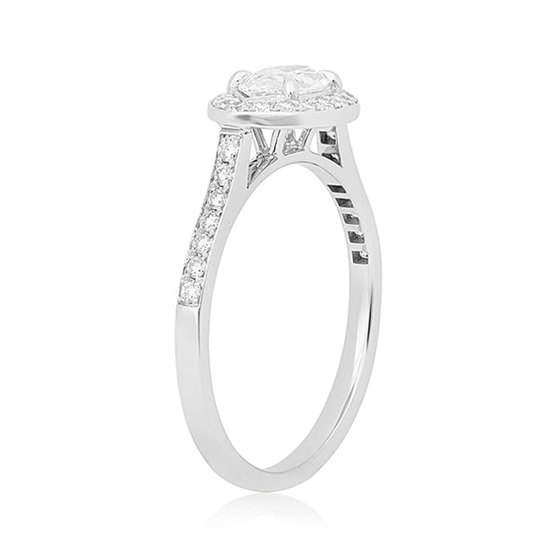 Jade Trau White Gold Diamond Ring Front View