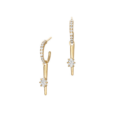 18K Yellow Gold Celestial Rae Diamond Earrings