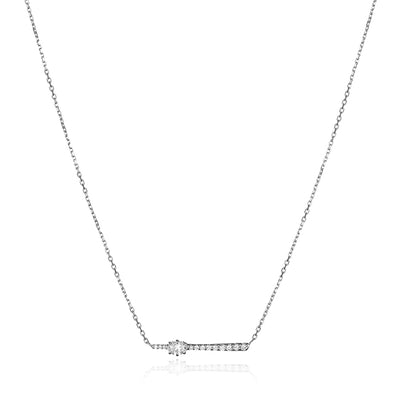 18K White Gold Celestial Rae Diamond Necklace