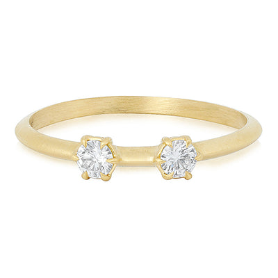 Jade Trau Yellow Gold Diamond Stack Ring