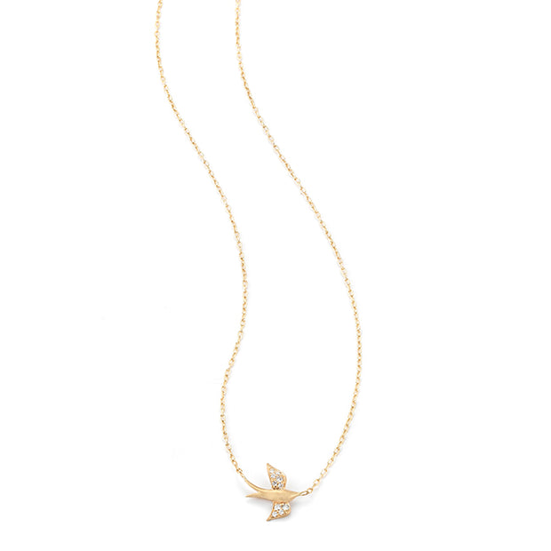 Jade Trau Yellow Gold Nightingale Necklace