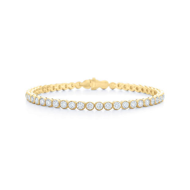 18K Yellow Gold Riviera Collection Diamond Line Bracelet