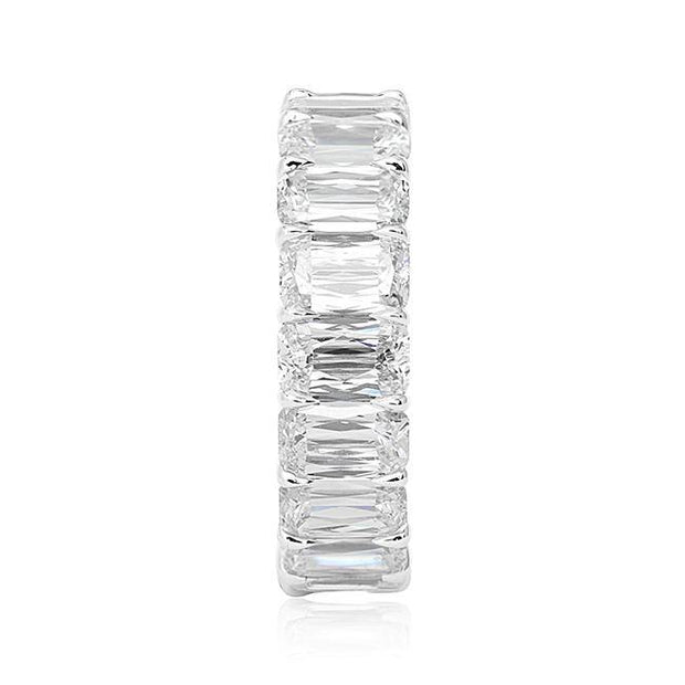 18K White Gold Ashoka Cut Diamond Band