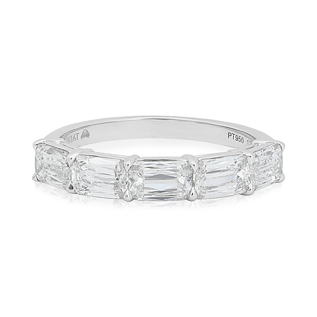 Platinum Ashoka Diamond Band