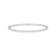 18K White Gold Eclipse Collection Oval Diamond Bracelet