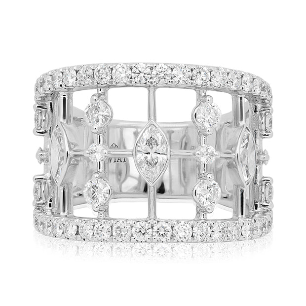 18K White Gold Starry Night Collection Diamond Ring