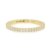 18K Yellow Gold and Diamond Eternity Ring