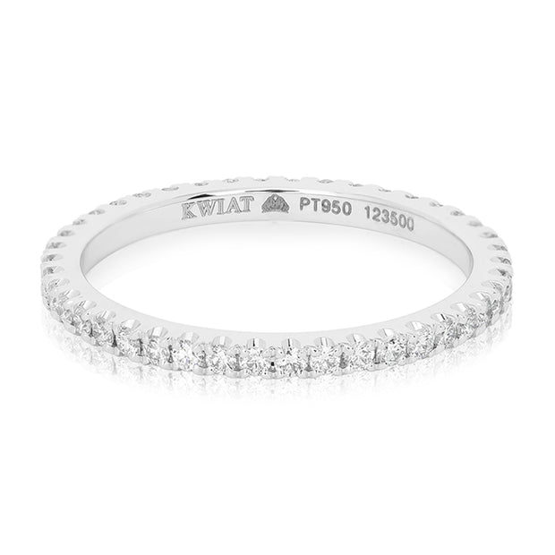18K White Gold Stackable Collection Diamond Eternity Band