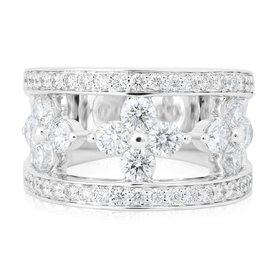 18K White Gold Jasmine Collection Open Diamond Eternity Ring