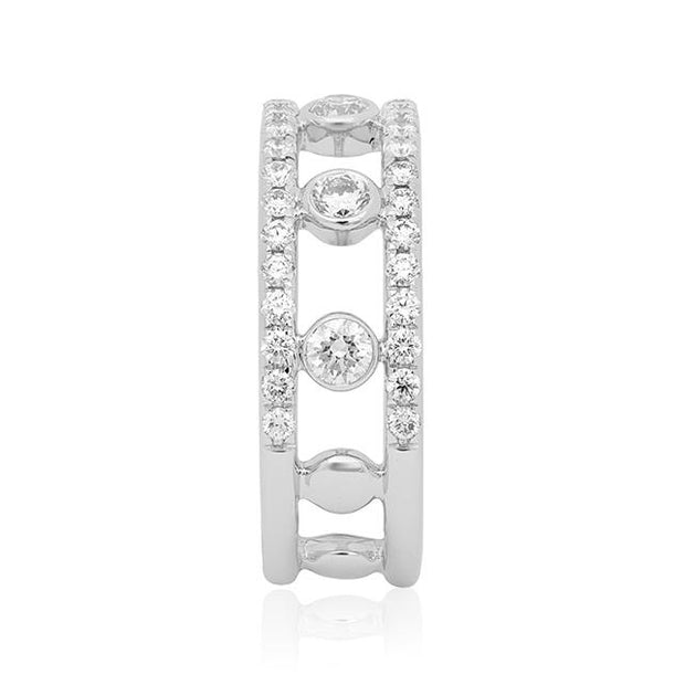 Stackable Collection Ring with Diamonds