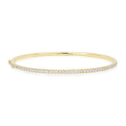 18K Yellow Gold Stackable Collection Diamond Bracelet