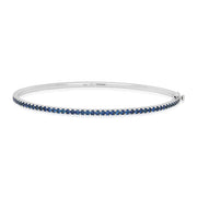 18K White Gold Stackable Collection Sapphire Bracelet