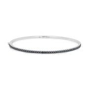 18K White Gold Stackable Collection Black Diamond Bracelet