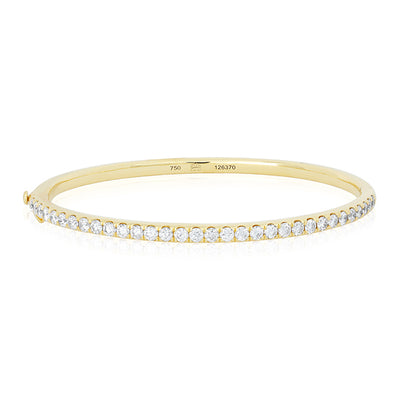 18K Yellow Gold Stackable Collection Diamond Bangle