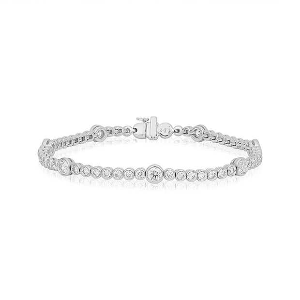 18K White Gold Riviera Collection Diamond Bracelet