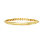 18K Yellow Gold Pave Diamond Bangle Bracelet