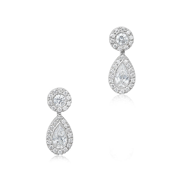 Platinum Diamond Silhouette Earrings