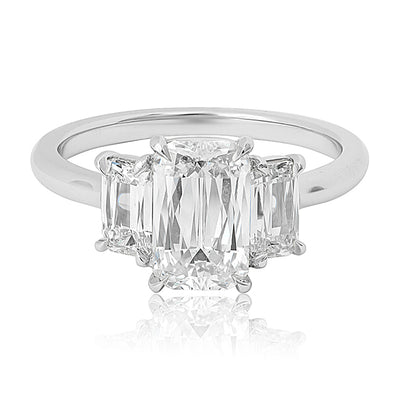 Kwiat Platinum and Diamond Ring Top View