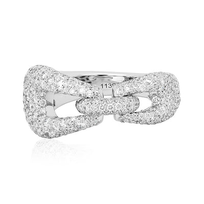 18K White Gold Madison Avenue Collection Diamond Ring