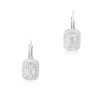 18K White Gold Ashoka Diamond Drop Earrings