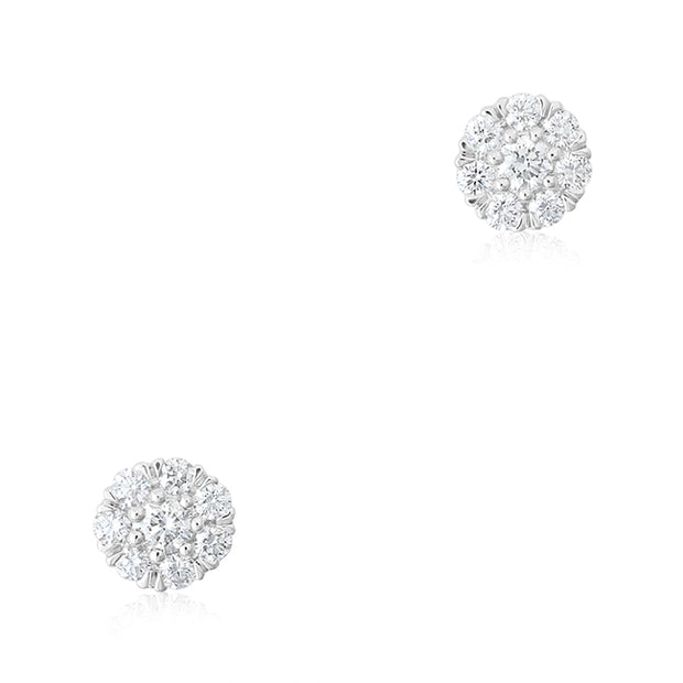 18K White Gold Splendor Earrings with Diamonds