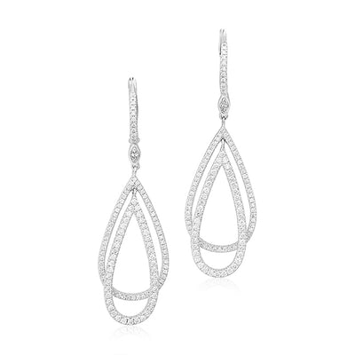 18K White Gold Diamond Echo Collection Earrings