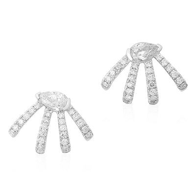 18K White Gold Diamond Earrings