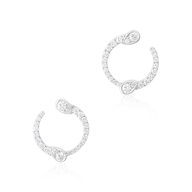 18K White Gold Eclipse Collection Diamond Earrings