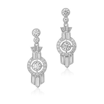 Splendor Collection Diamond Drop Earrings