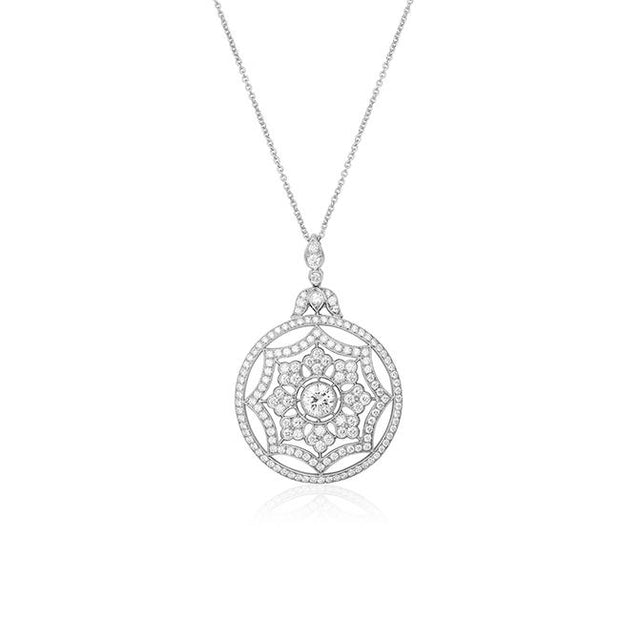 Splendor Collection Necklace with a Diamond Set Pendant