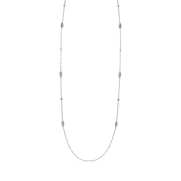 18K White Gold Splendor Necklace