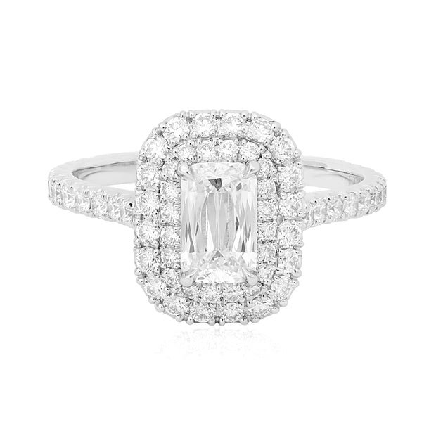 Platinum Ashoka Diamond Engagement Ring