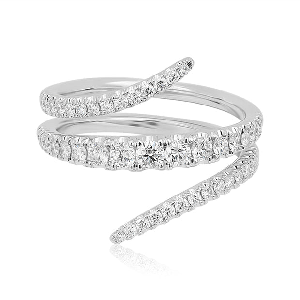 18K White Gold Vine Collection Diamond Ring
