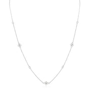 18K White Gold Diamond Necklace