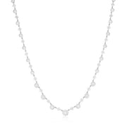 18K White Gold Sunburst Collection Diamond Necklace