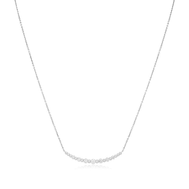 18K White Gold Starry Night Diamond Necklace