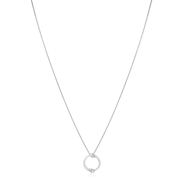 18K White Gold Eclipse Collection Diamond Necklace