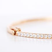 18K Rose Gold Stackable Collection Diamond Bangle Bracelet