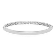18K White Gold Stackable Collection Pave Diamond Bangle Bracelet