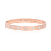 18K Rose Gold Stackable Collection Diamond Station Bangle