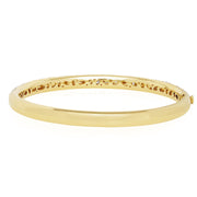 18K Yellow Gold Cobblestone Collection Diamond Bangle Bracelet