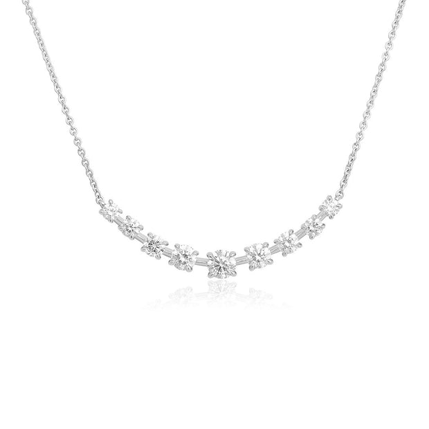 18K White Gold Riviera Collection Diamond Necklace